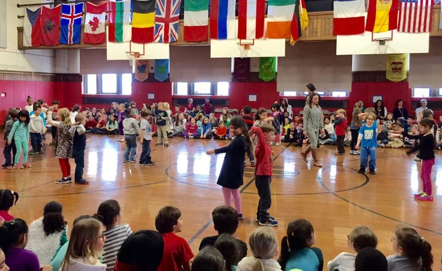 Kindergarteners' Snowball Dance